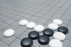 Gehen Spiel oder chinesisches Brettspiel Weiqi Lizenzfreies Stockfoto
