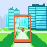 Gehen Standorttechnologie Lizenzfreies Stockbild
