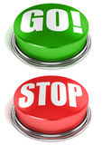 Gehen STOPP-Tasten Lizenzfreies Stockbild