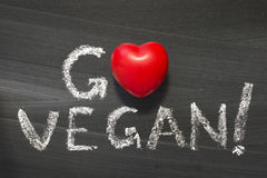 Gehen strenger Vegetarier Lizenzfreie Stockfotografie