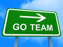 Gehen Team-Schild Lizenzfreie Stockfotografie