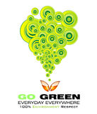 Gehen Umgebungs-Karte grüne Lizenzfreie Stockfotografie