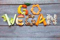 Gehen Vegan Stockfoto