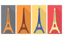 Gehen vor Notre Dame Flache Ikone Lizenzfreie Abbildung