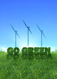 Gehen Windenergiezeichen grünes vektor abbildung