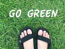Gehen Wort grünes stockfotografie