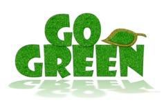 Gehen Zeichen grünes Lizenzfreies Stockfoto