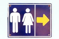 Gehen Zeichen zur Toilette. Lizenzfreies Stockfoto