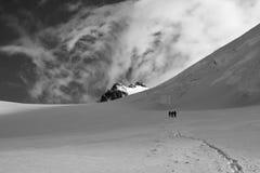 Gehen zum Gipfel Stockfotografie