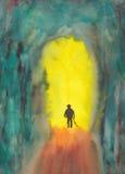 Gehen zur Leuchte Stockbild