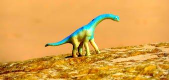 Gehend mit Dinosauriern, kommt Jurapark zum Leben Lizenzfreies Stockfoto