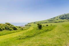 Gehende aroundthe Hügel von Eastbourne, Vereinigtes Königreich Lizenzfreie Stockfotografie