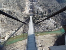 Gehende Brücke lizenzfreies stockbild