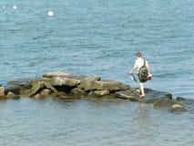 Gehende Fischerei Lizenzfreies Stockfoto