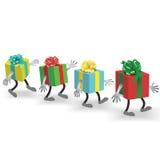 Gehende Geschenke lizenzfreie abbildung