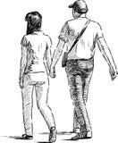 Gehende Paare Stockbild