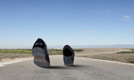 Gehende Schuhe Lizenzfreies Stockbild