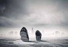 Gehende Schuhe Stockfoto