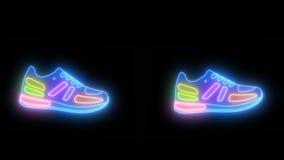 Gehende Schuhe lokalisiert stock footage