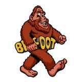 Gehender Bigfoot entzückend lizenzfreie abbildung