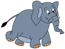 Gehender Elefant Lizenzfreies Stockfoto