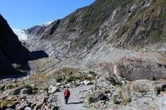 Gehender Fußweg Franz Josef Glacier New Zealand stockbilder