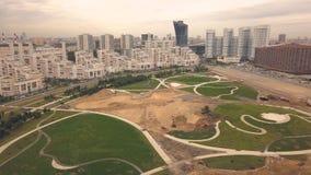 Gehender Park des Draufsichtbaus in der modernen Stadt der neuen Nachbarschaft stockbilder