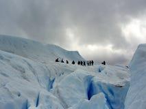 Gehender Perito Merino-Gletscher Stockfotos