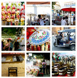 Gehender Straßennachtmarkt Chiang Mai Thailand Stockbild