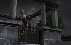Gehender toter Zombie Lizenzfreie Stockfotos