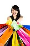 Gehendes Einkaufen Lizenzfreie Stockbilder