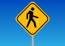 Gehendes Fußgängerzeichen Stockbild