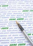 Gehendes Grün. Lizenzfreie Stockfotografie