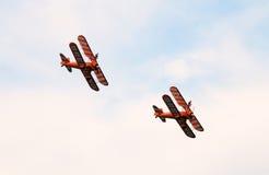 Gehendes Team des Breitling Flügels Stockfotos