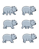 Gehendes Wombat-Spiel Sprite Lizenzfreie Stockfotos