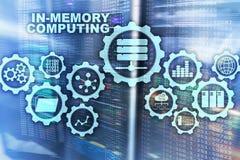 In-geheugen Gegevensverwerking Het Concept van technologieberekeningen Krachtig Analitisch Toestel stock afbeeldingen