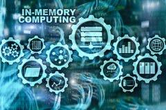 In-geheugen Gegevensverwerking Het Concept van technologieberekeningen Krachtig Analitisch Toestel royalty-vrije illustratie