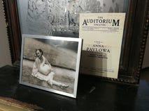 geheugen van Anna Pavlova stock foto