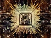 Geheugen van Computer cpu vector illustratie