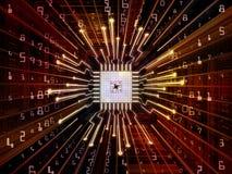 Geheugen van Computer cpu stock illustratie