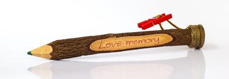 Het Houten potlood van de gift Royalty-vrije Stock Foto's