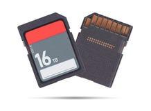 Geheugenkaart op witte achtergrond wordt geïsoleerd - Terabyte 16 die Stock Afbeeldingen