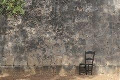 Geheugenmuur in palmade Mallorca begraafplaats wijd stock foto