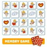 Geheugenspel voor kinderen, kaarten met engelen royalty-vrije illustratie