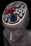 Gehirn angeschaltenes Seil lizenzfreie abbildung
