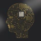 Gehirn CPU ai Stockbild