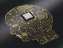 Gehirn CPU ai Lizenzfreie Stockfotos