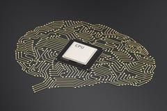 Gehirn CPU ai Lizenzfreie Stockbilder