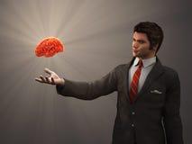 Gehirn der menschlichen Hand vektor abbildung