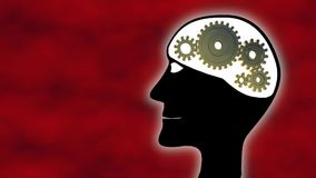 Gehirn im Schnellgang stock video footage